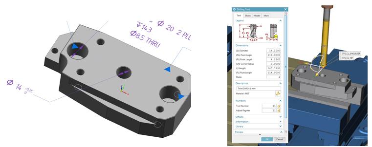 Передча PMI из Solid Edge в Solid Edge CAM Pro