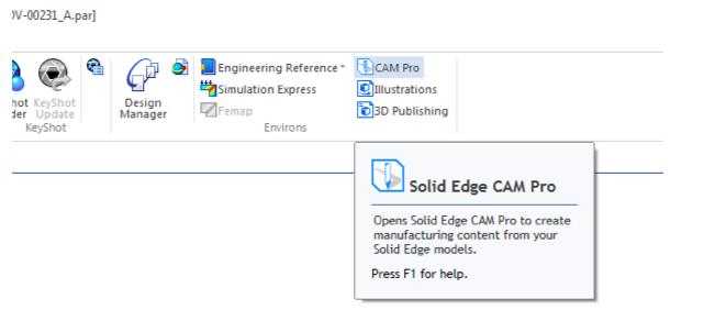 CAM Pro, CAM, Solid Edge CAM Pro
