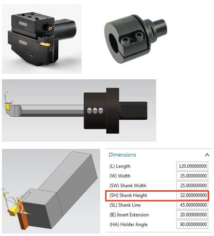 Определение высоты держателя Solid Edge CAM Pro
