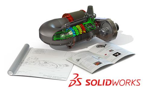 SOLIDWORKS позволяет создавать инструкции по монтажу, руководства по обслуживанию, учебники, маркетинговые брошюры