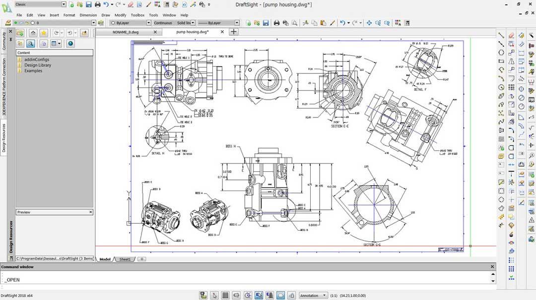 DraftSight предлагает множество полезных инструментов, способных удовлетворить основные потребности в черчении и документировании.