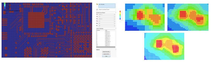 FloEDA Использование изображений слоев, обеспечивают точные данные проводимости и емкости внутренней структуры печатной платы