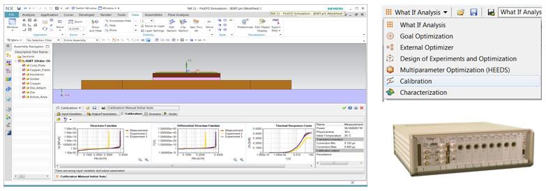 Simcenter FloEFD T3STER позволяет получить переходную тепловую характеристику корпуса