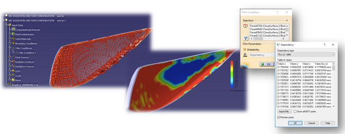 FloEFD Отображение толщины пленки