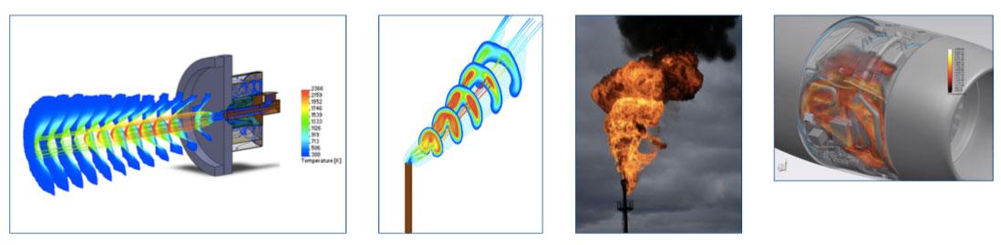 FloEFD Advanced Module  используется для моделирования гиперзвукового течения и анализа горения