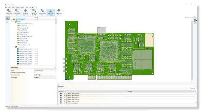 FloEDA Bridge Module позволяет импортировать данные печатной платы в механический САПР