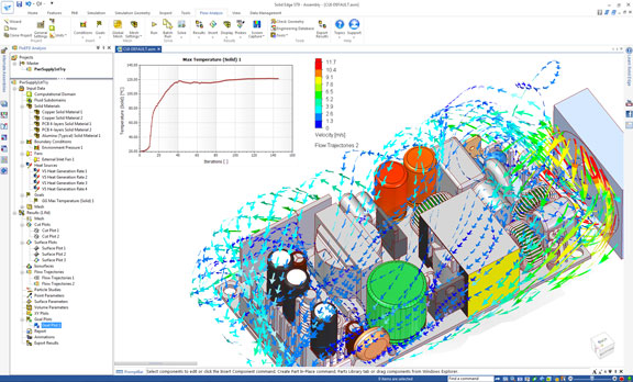 FloEFD Electronics Cooling Module предназначен для проведения моделирования систем охлаждения электроники