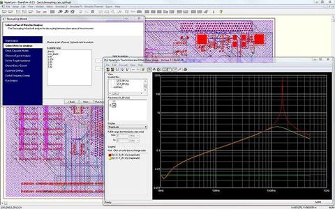 HyperLynx PI позволяет проверить импеданс сети распределения цепей питания