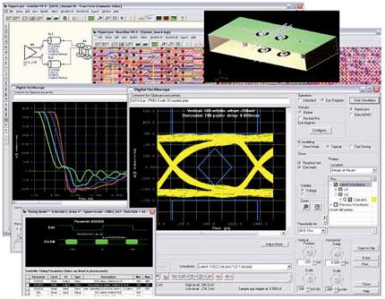 HyperLynx SI включает пред- и пост-топологический анализ целостности сигналов, перекрестных помех, электромагнитной совместимости
