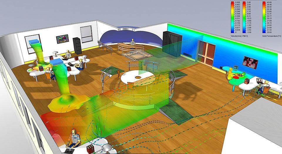 SOLIDWORKSFLOW Simulation HVAC Module – анализ систем вентиляции, отопления и кондиционирования