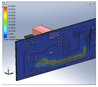 SOLIDWORKSFLOW Simulation Electronics Cooling – анализ теплообмена печатной платы