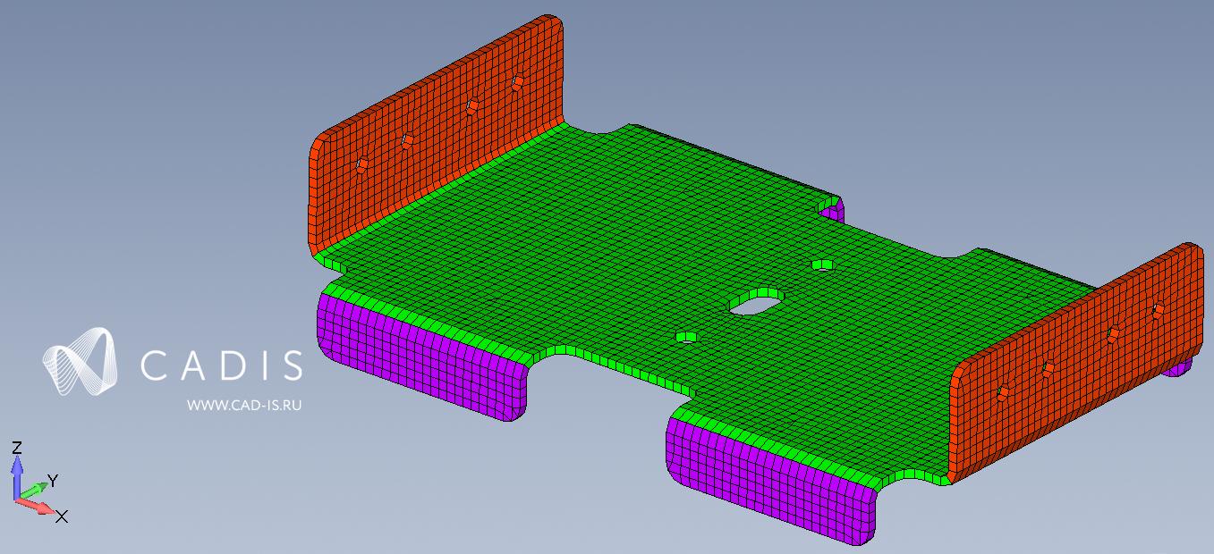 Пример определения направления пакета в трехмерной композиционной конструкции в Siemens Femap