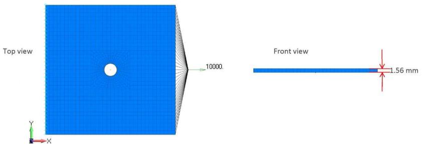 Сетка конечных элементов трехмерной модели композита в Siemens Femap