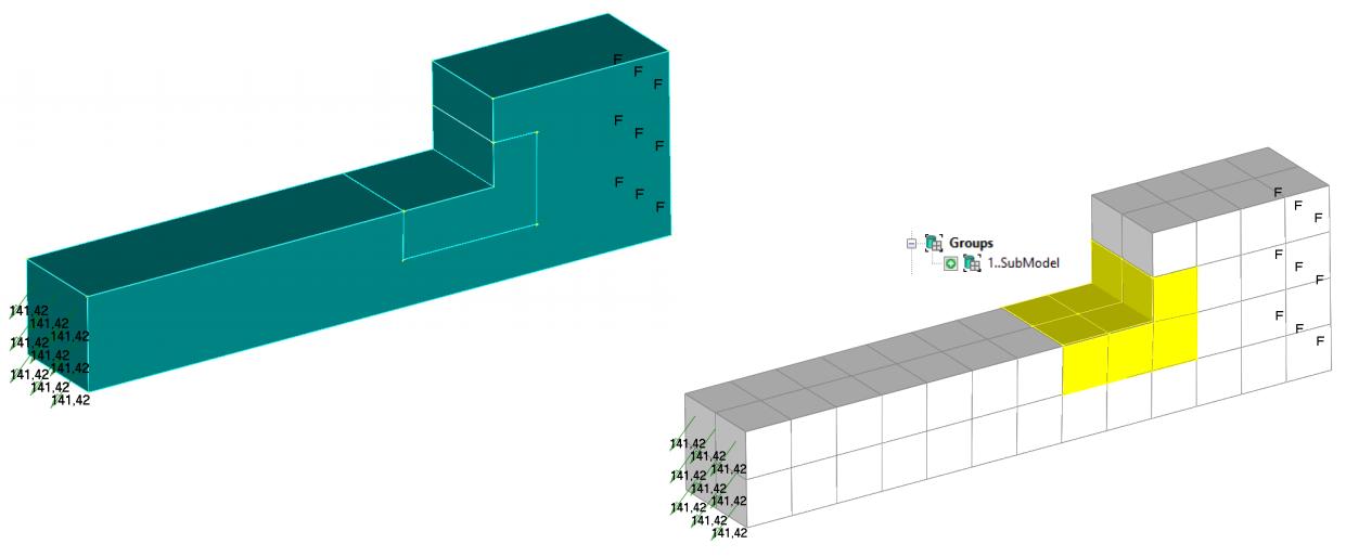 Femap, nastran, submodeling подмоделирование, субмоделирование, сабмоделинг, субмоделинг