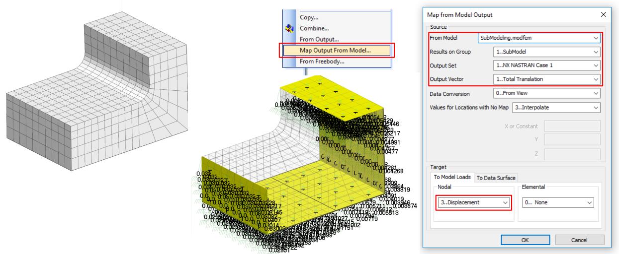 Model,Load,Map OutputFrom Model Femap, nastran, submodeling подмоделирование, субмоделирование, сабмоделинг, субмоделинг