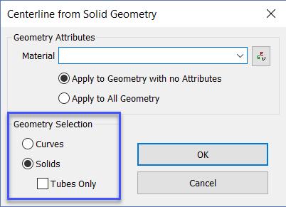 Диалоговое окно Centerline from Solid Geometry siemens femap nastran