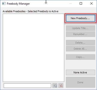 Создание нового Freebody в Femap (шаг 2)