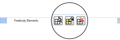 Выбор и подсветка элементов из набора Freebody