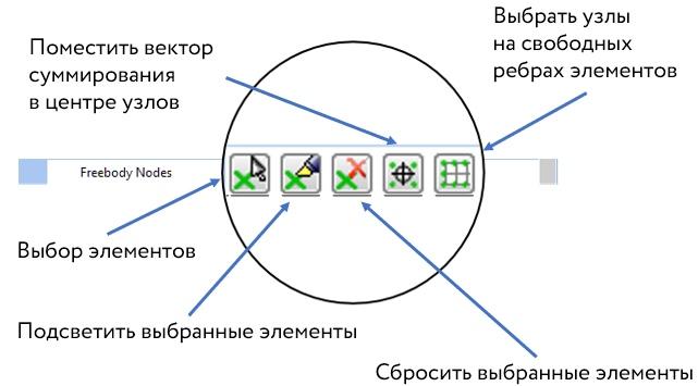 Дополнительные опции выбора узлов в режиме Interface Load