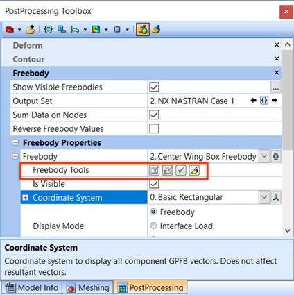 Дополнительные инструменты Freebody (Freebody Tools) femap