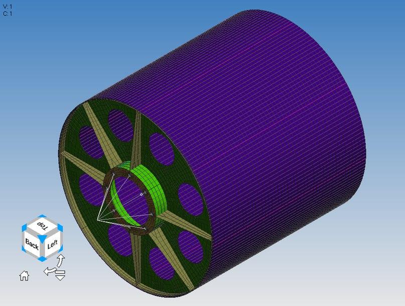 Видовой куб в Femap v12