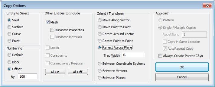 Новый функционал для копирования/переноса объектов в Femap v12