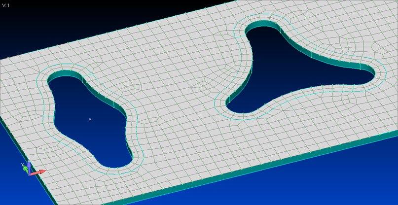 Инструменты Washer и Pad теперь работают не только с круглыми отверстиями, но и с абсолютно любыми вырезами в Femap v12
