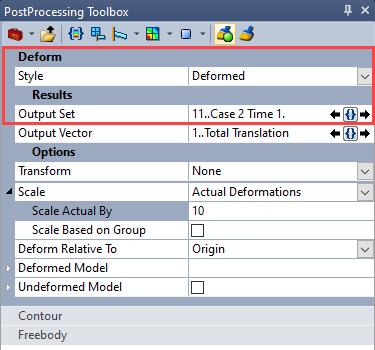 sol 401, sol 402, multi-step nonlinear, bolt preload, Визуализация результатов деформированного состояния