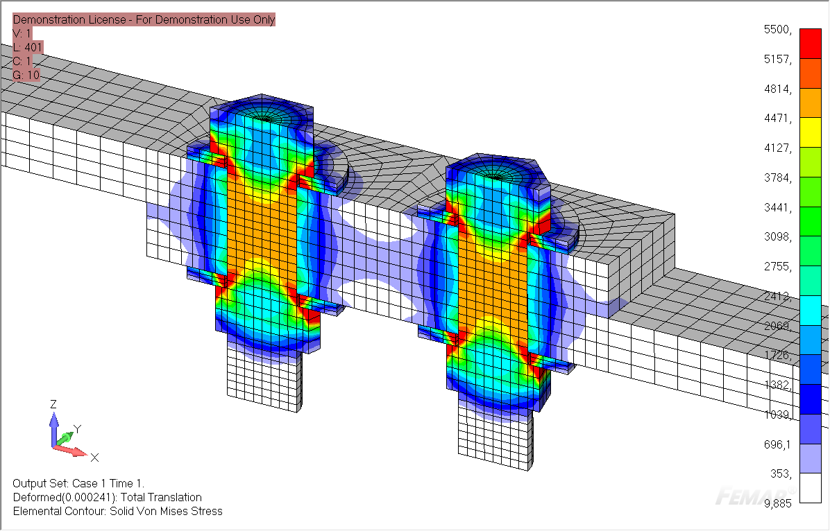 FEMAP Multi-Step Nonlinear (SOL 401): Урок №2. Моделирование болтового соединения