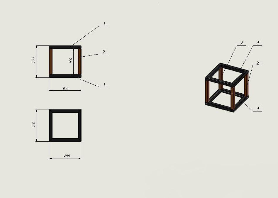 Сварные конструкции. Создание чертежа и спецификации по созданной модели.