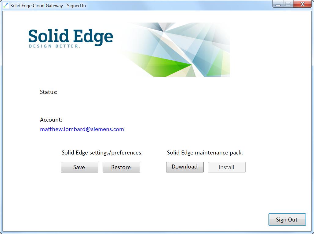 Solid Edge ST9 Cloud Gateway облако