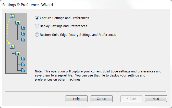 Solid Edge ST9: Мастер настроек и параметров