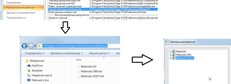 Solid Edge Таблица материалов другому пользователю