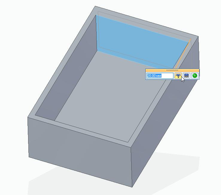 Solid Edge тонкостенная деталь синхронное моделирование