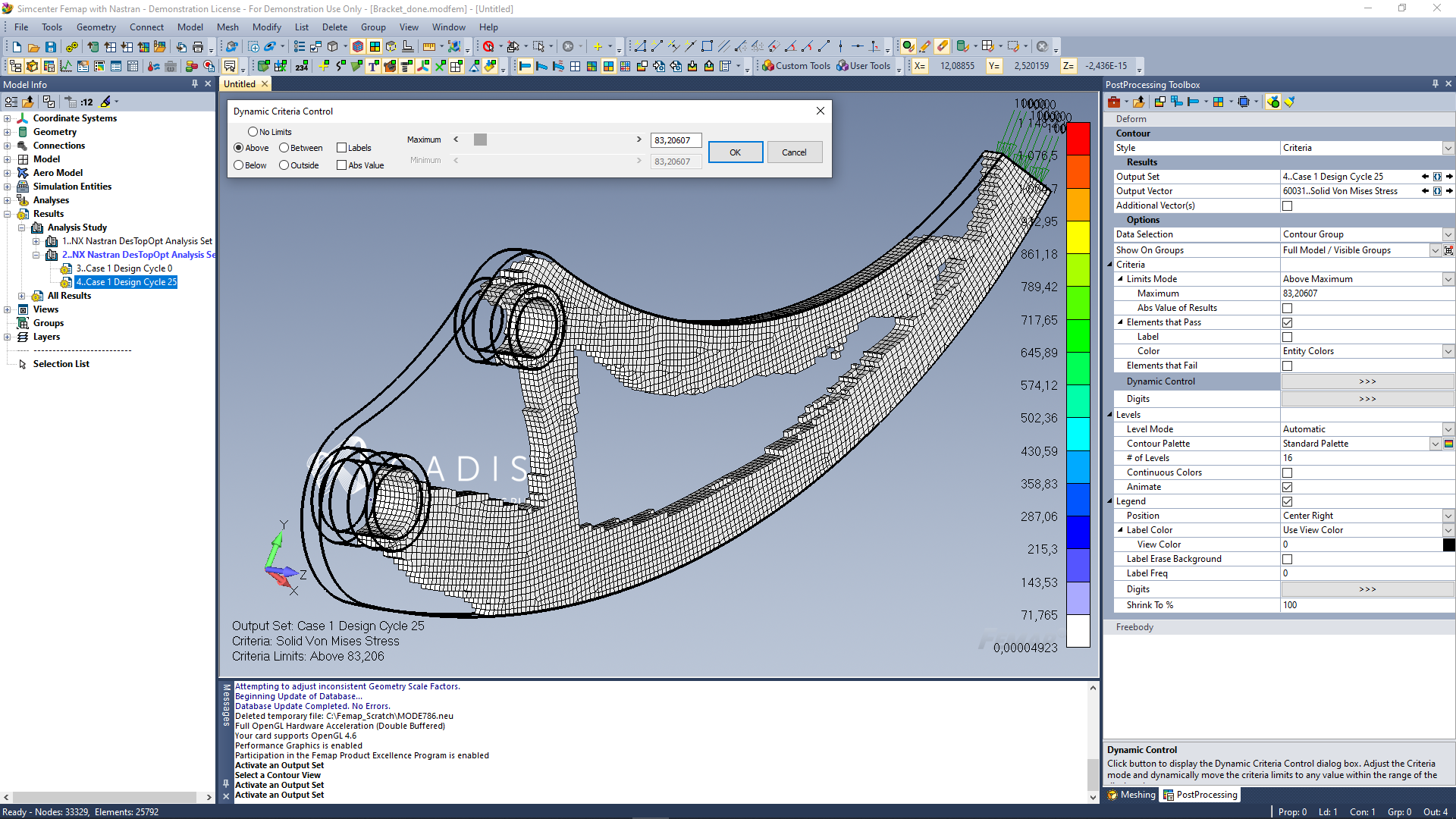 FEMAP with NX Nastran: Design Optimization