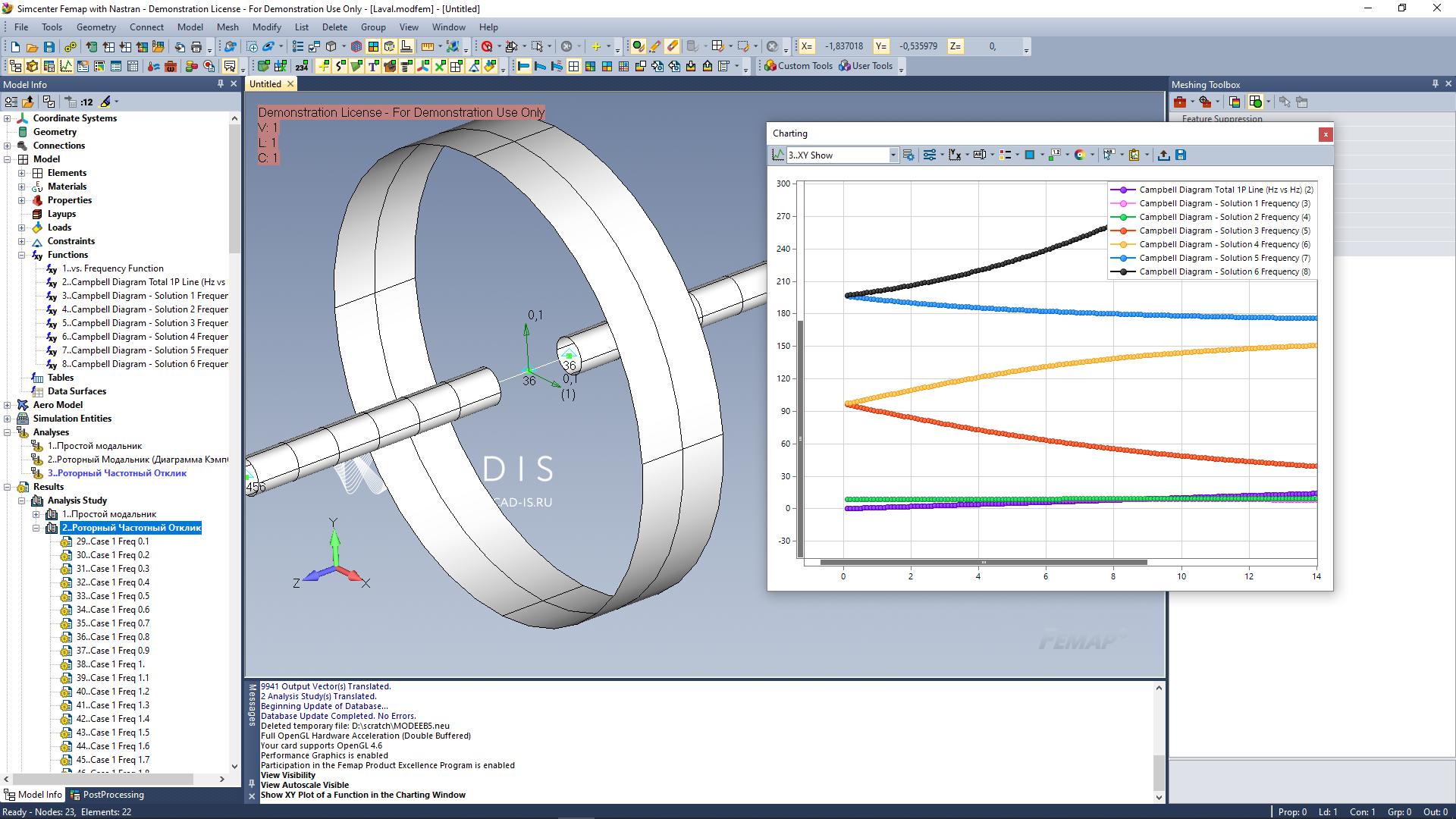FEMAP with NX Nastran: Rotor Dynamics