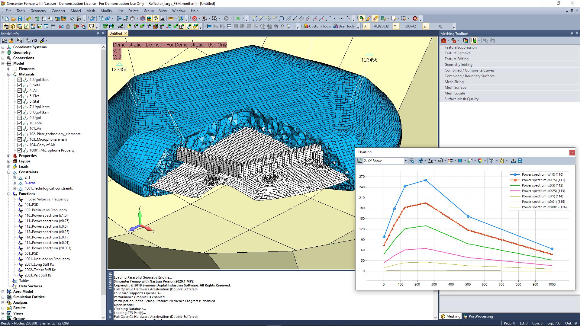 Simcenter Femap: Вибро-акустический анализ