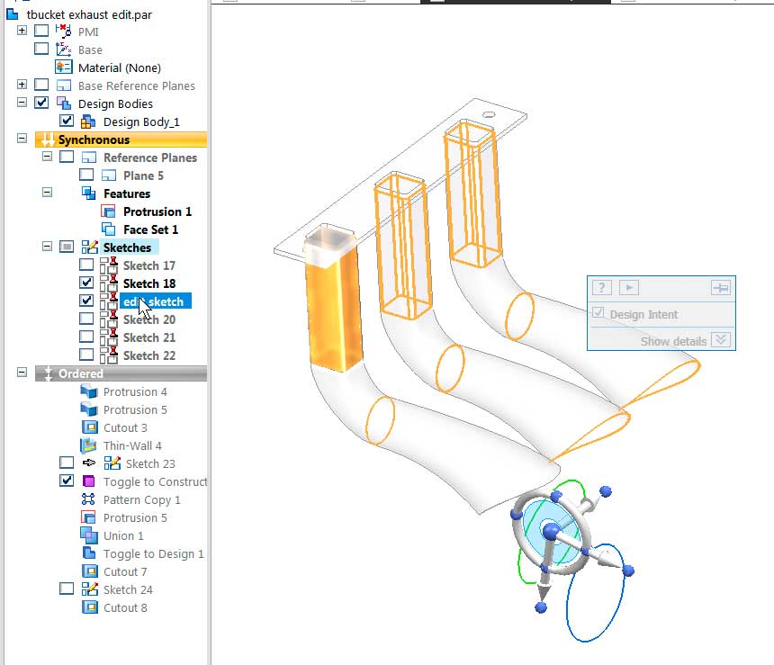 Моделировании деталей в версии ST9 1