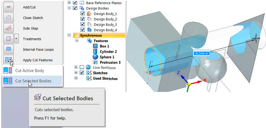 Моделировании деталей в версии ST9 5