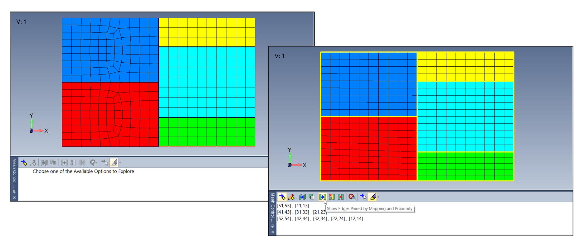 femap, nastran, non manifold, Mesh Control Explorer