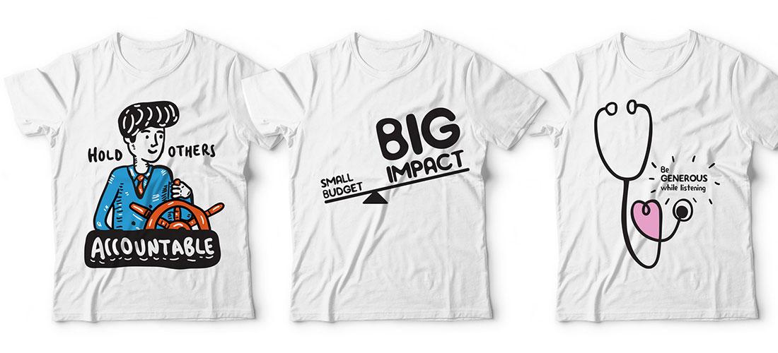 Custom corporate t-shirts