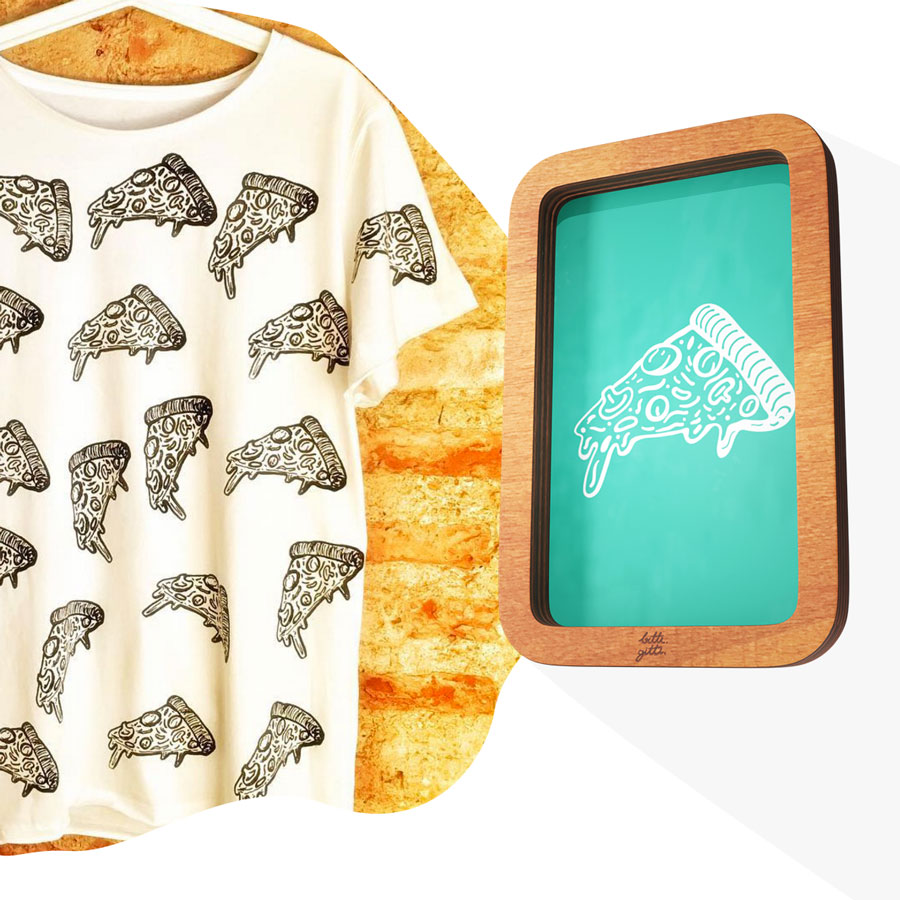 Pizza screen print