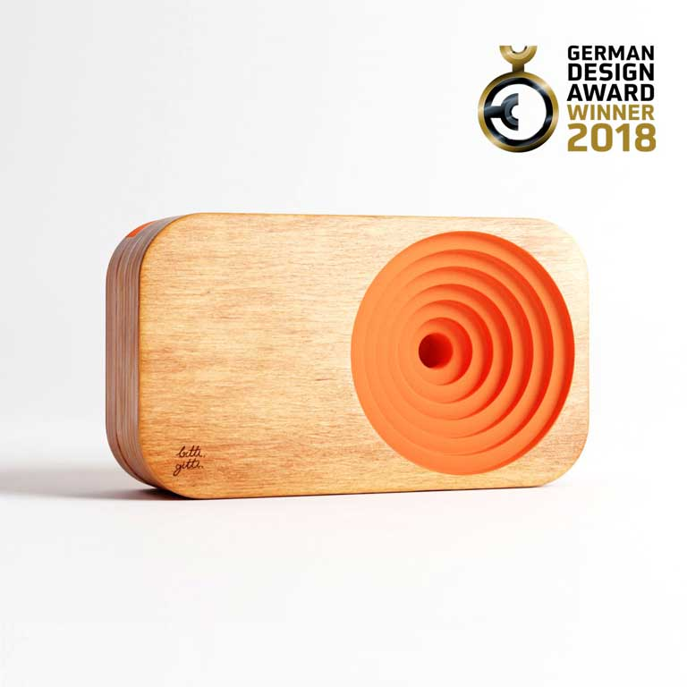 German Design Award 2018 Winner Wooden Sound System