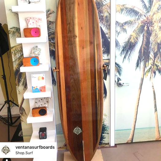 the wooden sound system with surf