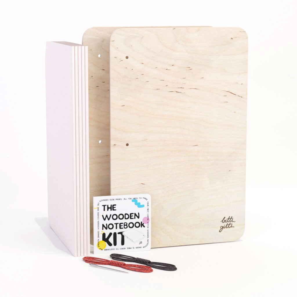 the wooden notebook kit
