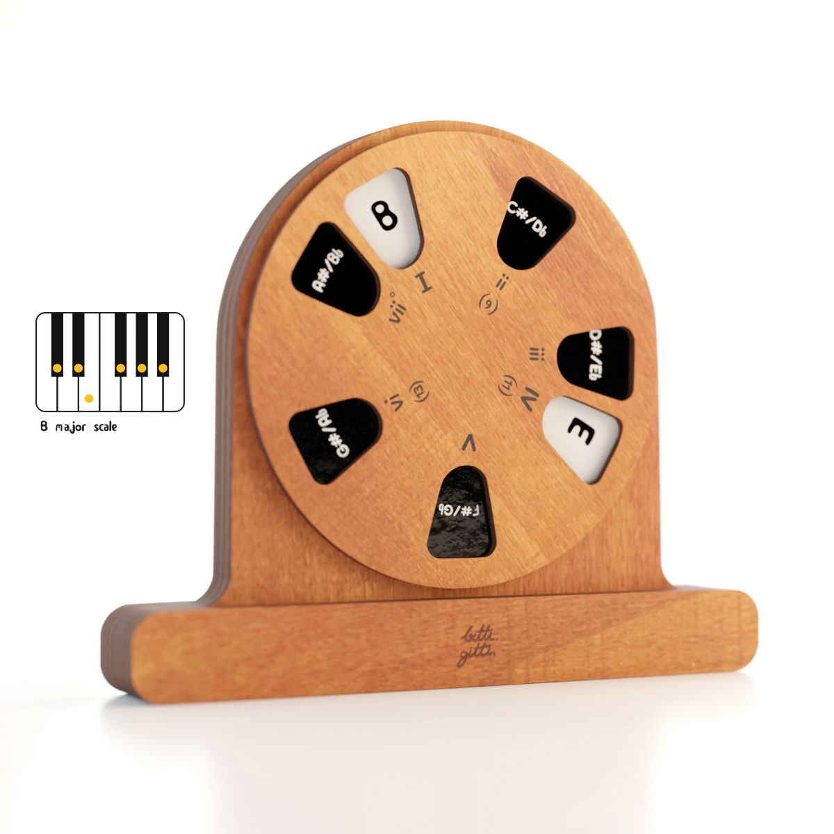 the wooden musical object