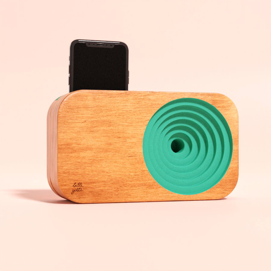 the Wooden Sound System Salt Turquoise