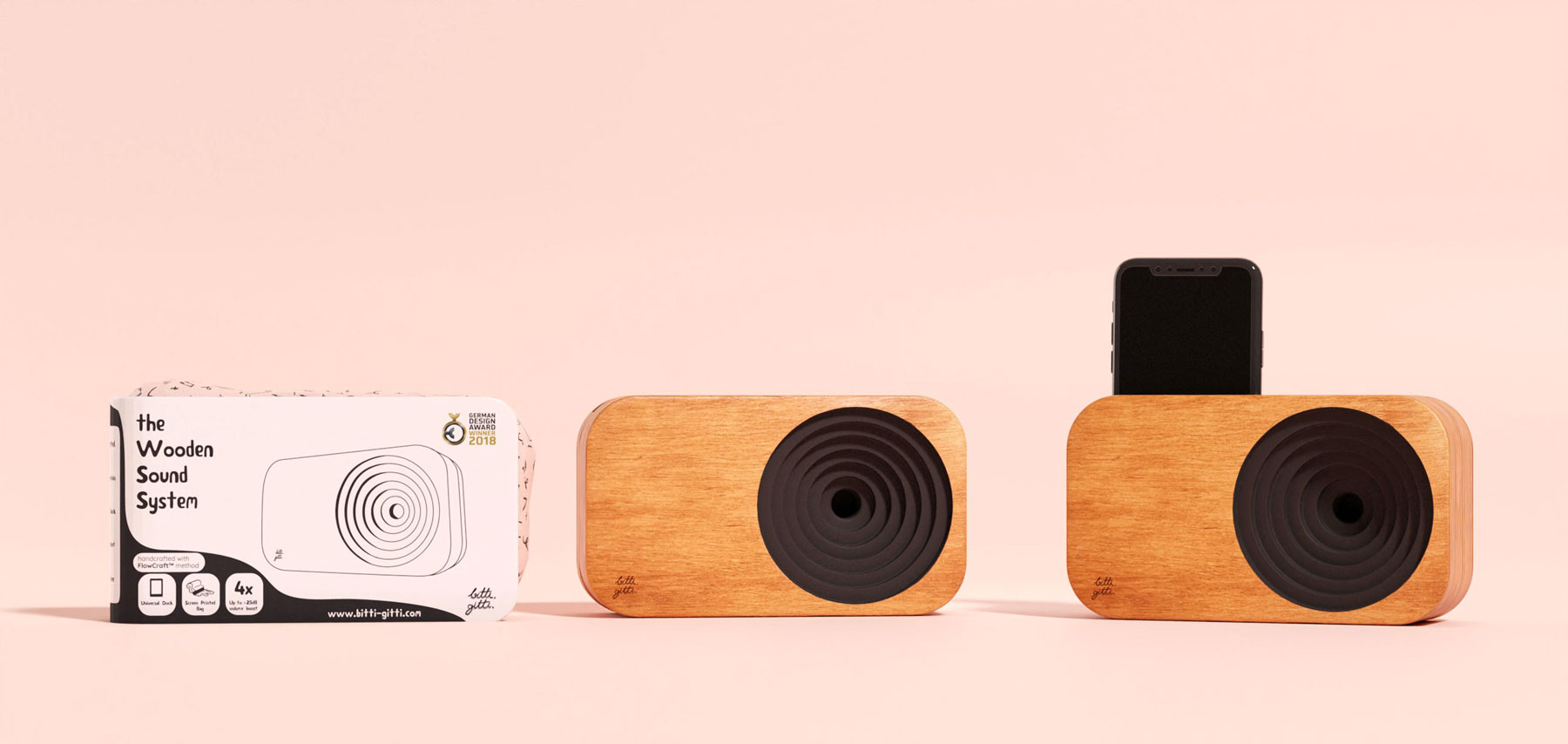 the wooden sound system sustainable packaging