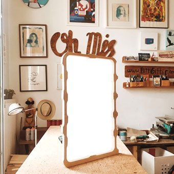 the Wooden Sound System-screen print frame - making