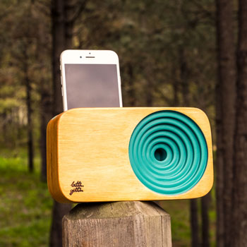 sound system in a forest